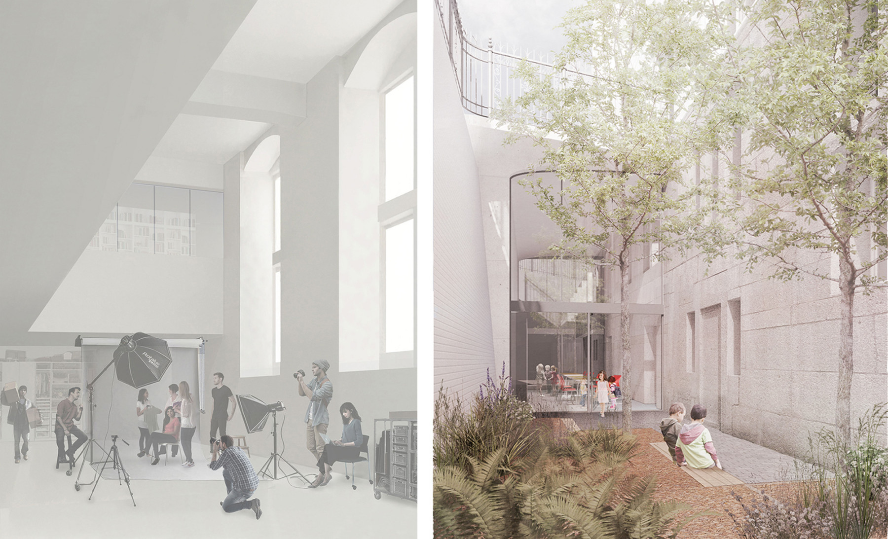 Jamie-Fobert-Architects visualisation-of-the-learning-courtyard-centre