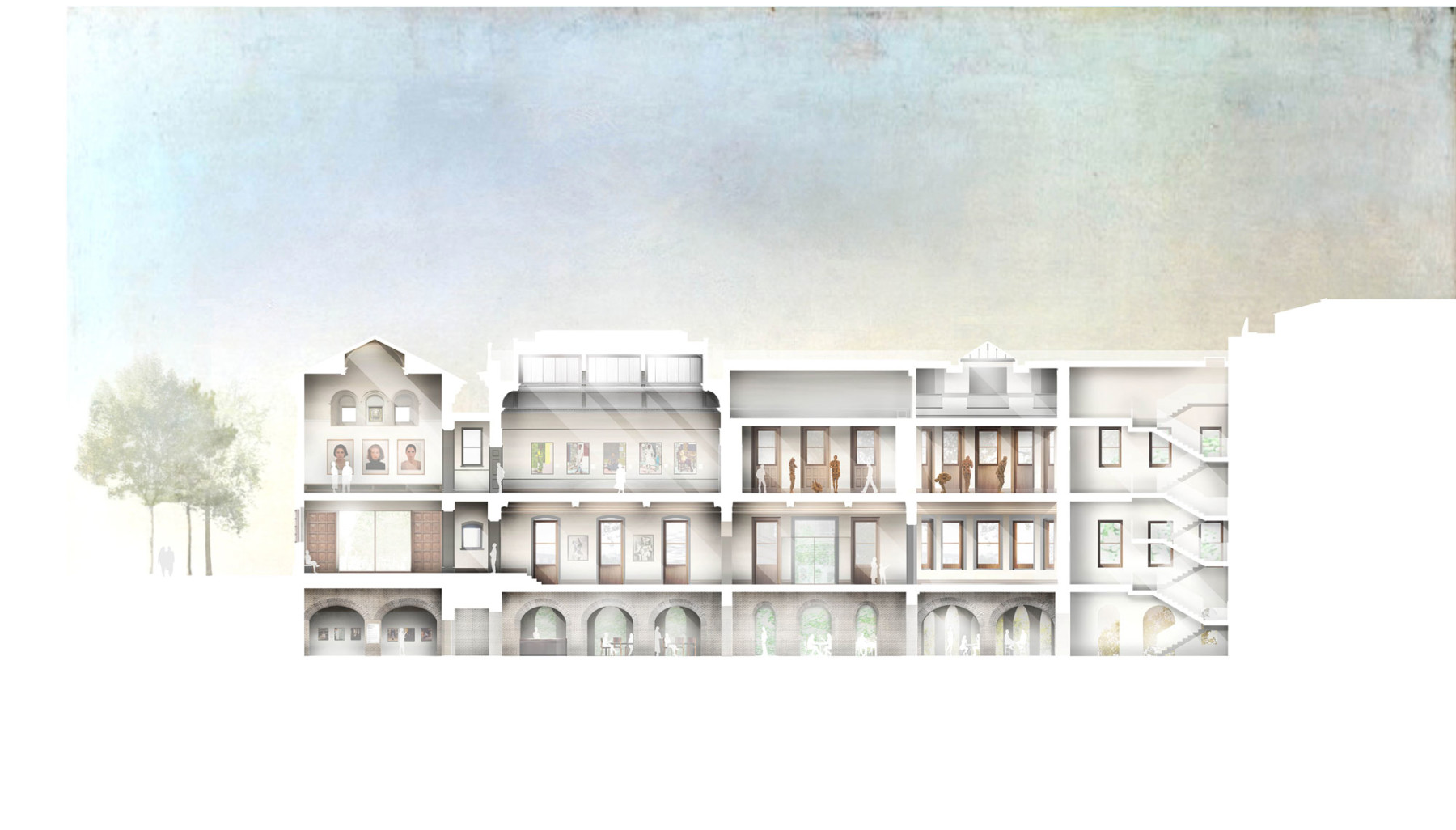 National-portrait-gallery proposed-East-Wing-section Jamie-Fobert-Architects