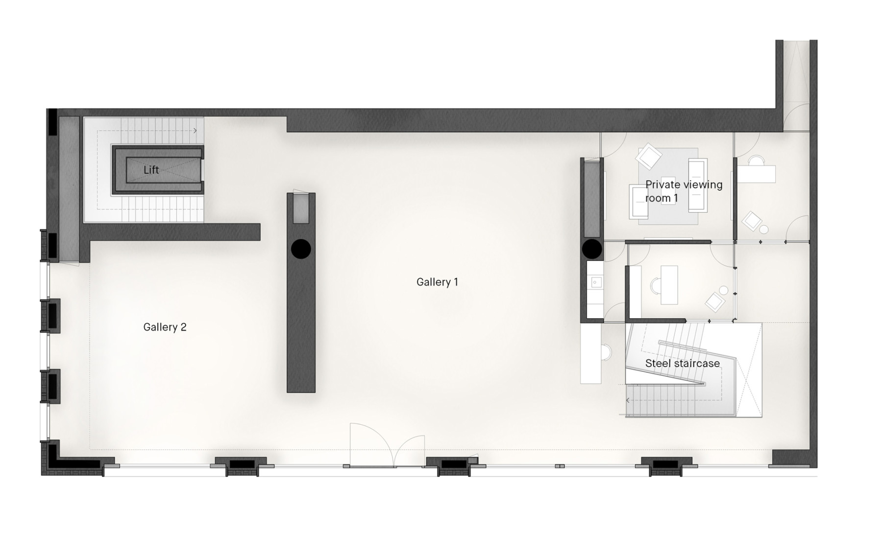 Pace-gallery-hanover-square-jamie-fobert-architects-ground-plan