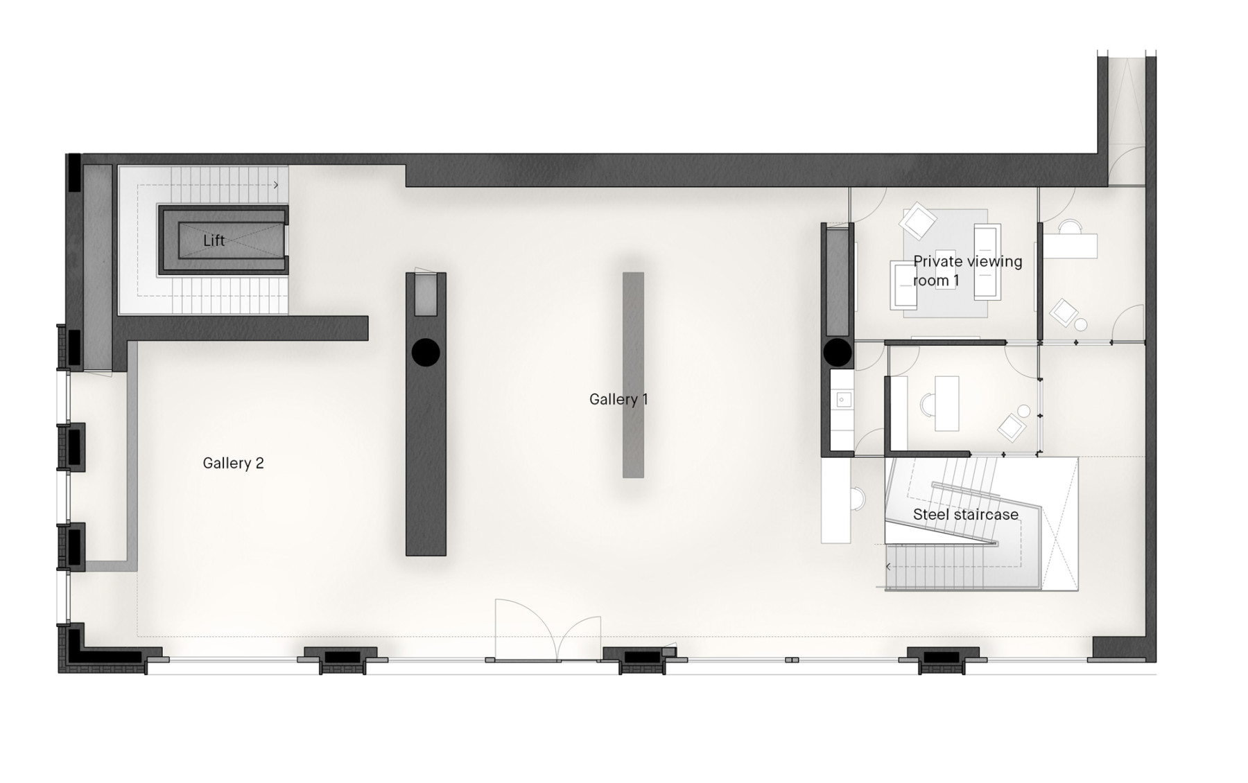 Pace-gallery-hanover-square-jamie-fobert-architects-ground-plan-2