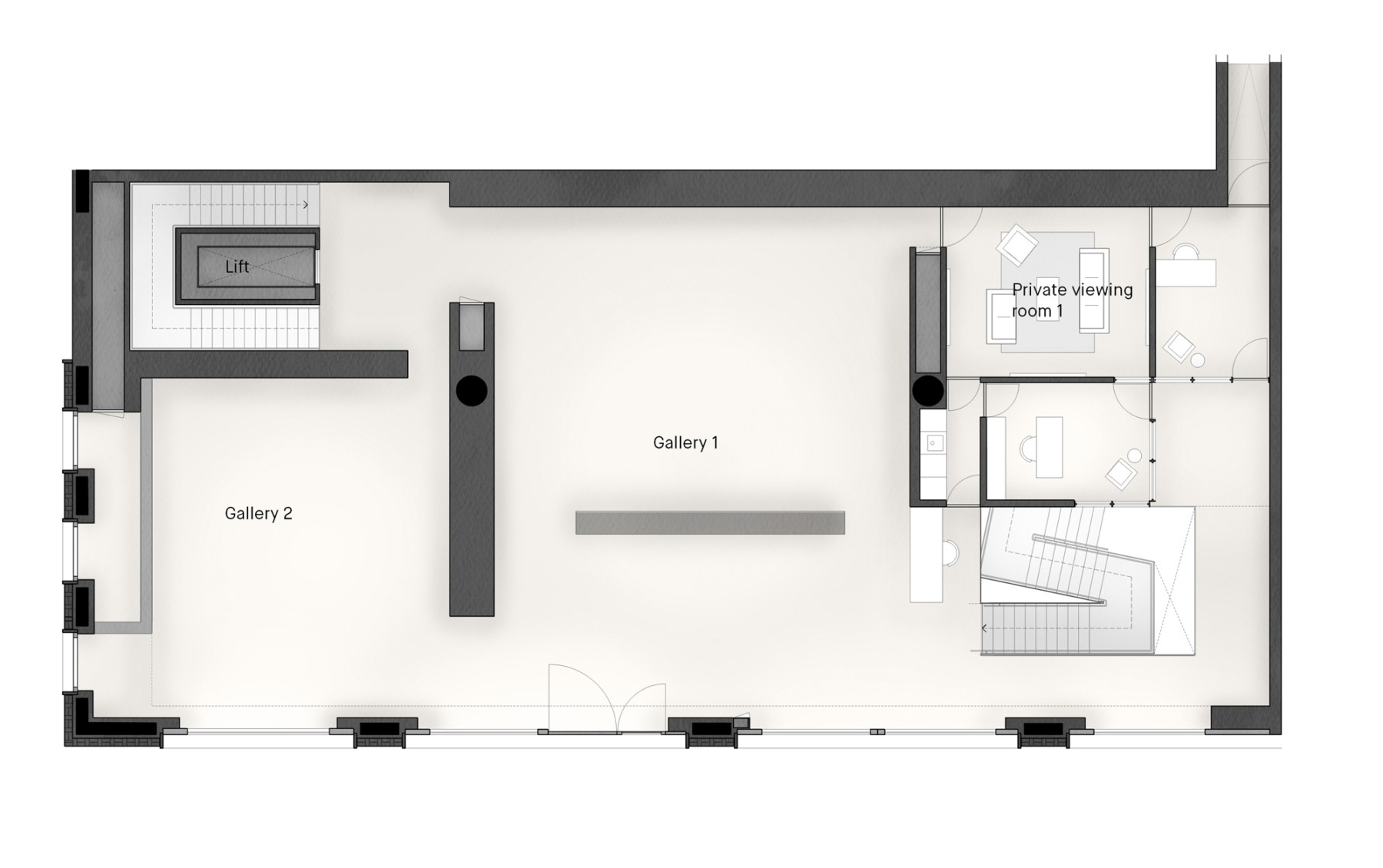Pace-gallery-hanover-square-jamie-fobert-architects-ground-plan-3