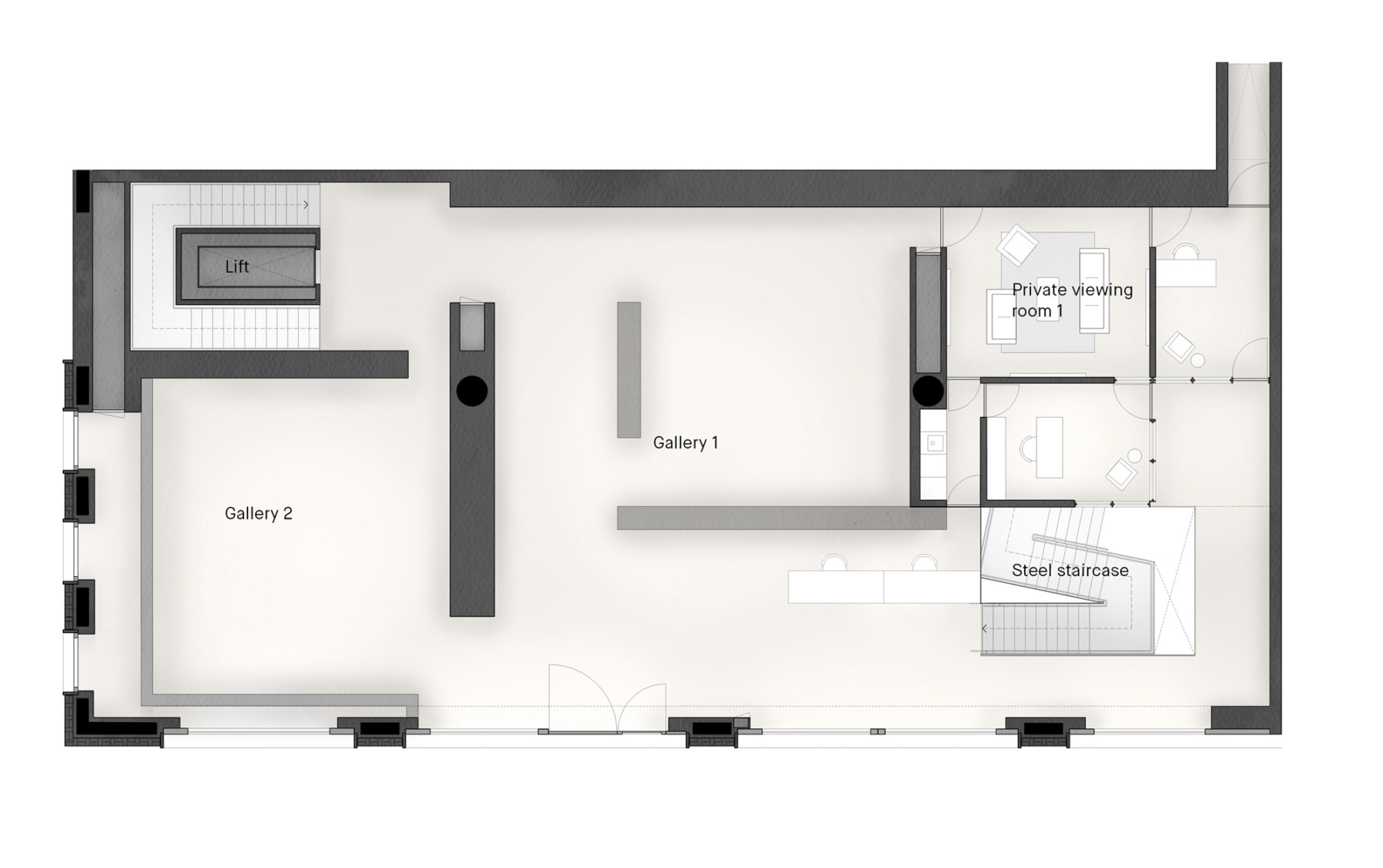 Pace-gallery-hanover-square-jamie-fobert-architects-ground-plan-4