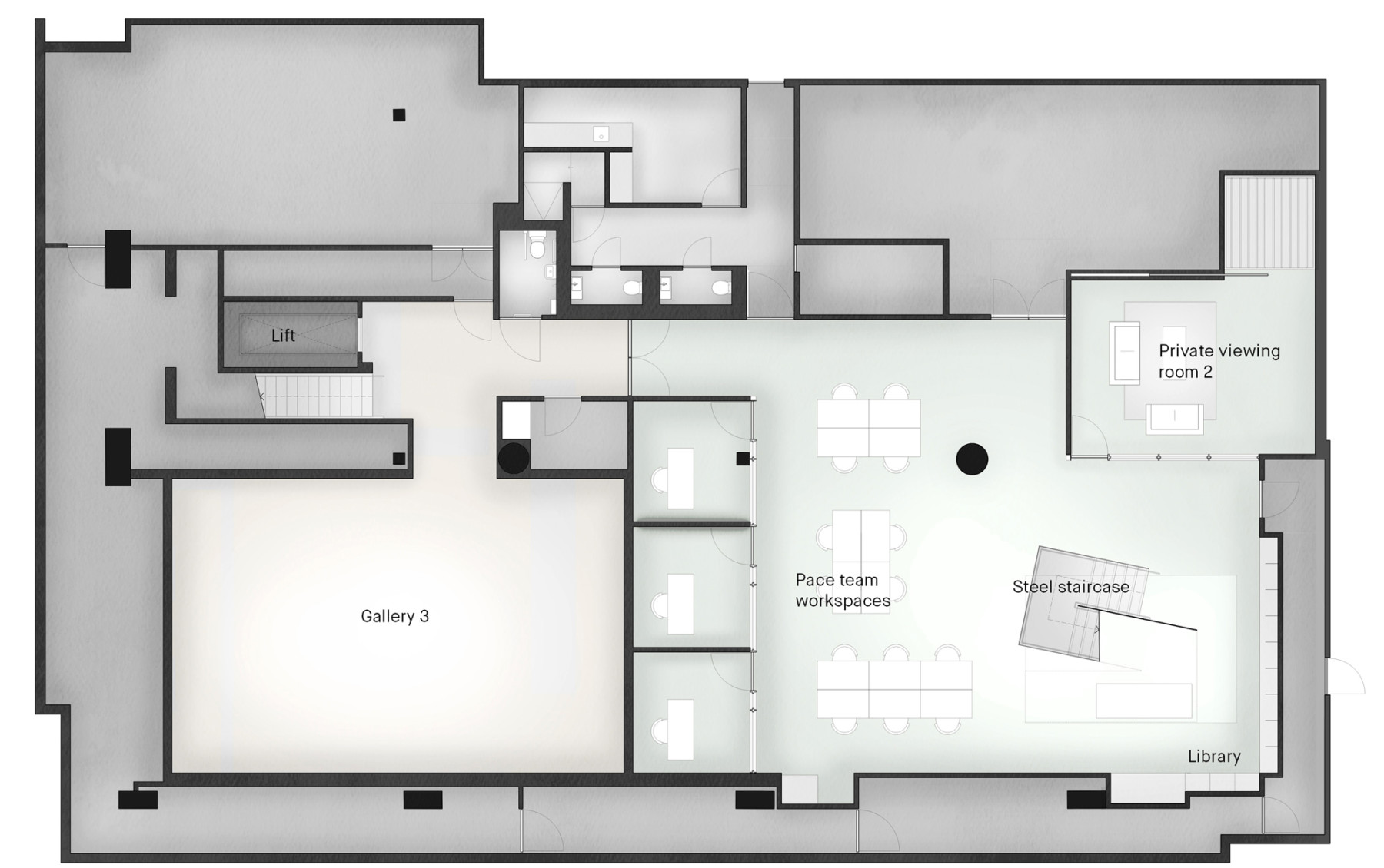 Pace-gallery-hanover-square-jamie-fobert-architects-lower-ground-plan